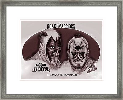 Legion Of Doom- The Road Warriors Framed Print by Chris  DelVecchio