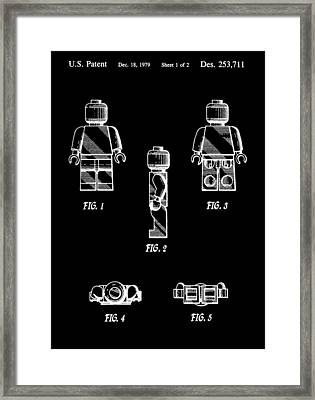 Lego Minifigurine Patent Framed Print by Dan Sproul