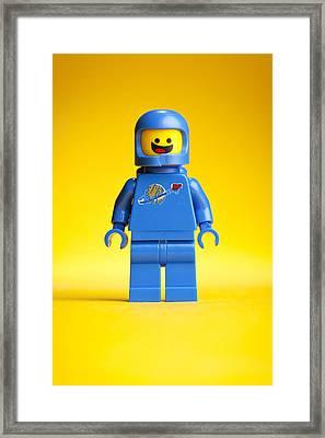 Lego Movie Benny Framed Print by Samuel Whitton