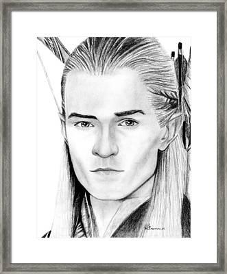 Legolas Greenleaf Framed Print by Kayleigh Semeniuk