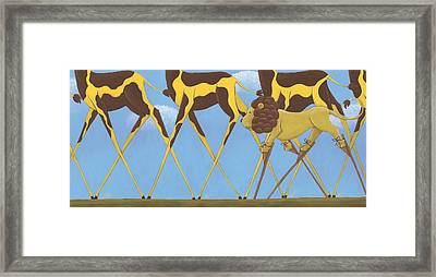 Whimsical Giraffe Painting  Framed Print by Christy Beckwith