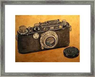 Leica II Camera Framed Print by Juan  Bosco