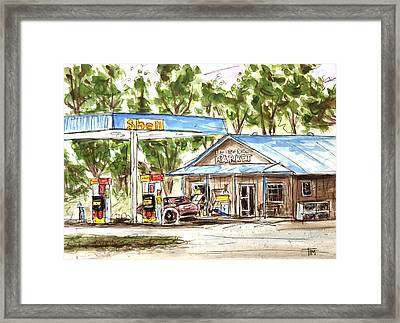Leipers Fork Market Framed Print by Tim Ross