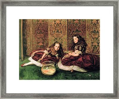 Leisure Hours Framed Print by Sir John Everett Millais