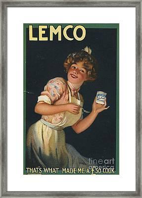Lemco 1910s Uk Framed Print by The Advertising Archives