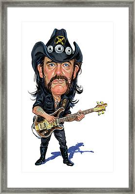 Lemmy Kilmister Framed Print by Art
