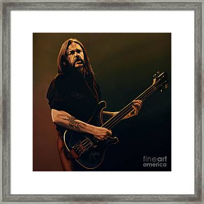 Lemmy Kilmister Painting Framed Print by Paul Meijering