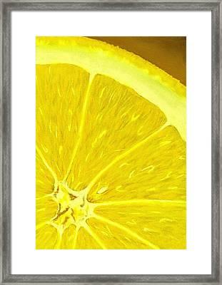 Lemon Framed Print by Anastasiya Malakhova