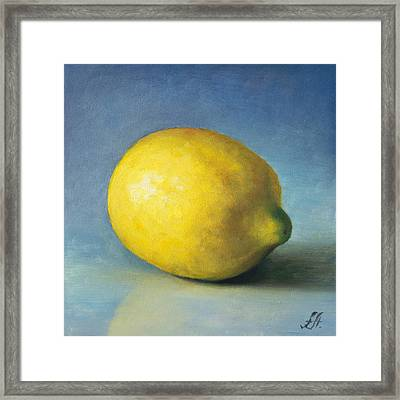 Lemon Framed Print by Anna Abramska