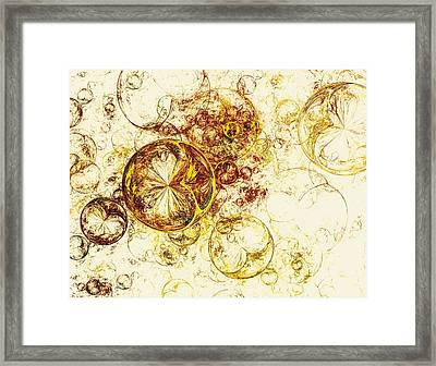 Lemon Bubbles Framed Print by Anastasiya Malakhova