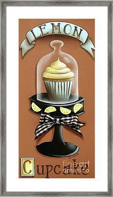 Lemon Cupcake Framed Print by Catherine Holman