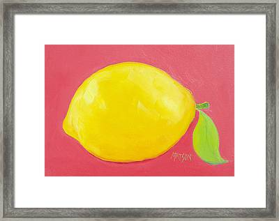 Lemon Framed Print by Jan Matson