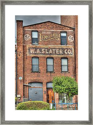 Lemon Kola 5 Cents Framed Print by Emily Kay