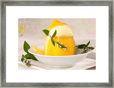 lemon Sorbet   Framed Print by Iris Richardson