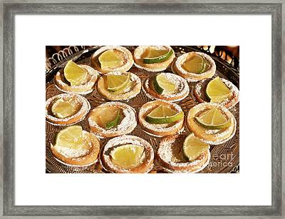 Lemon Tarts Framed Print by Rick Piper Photography