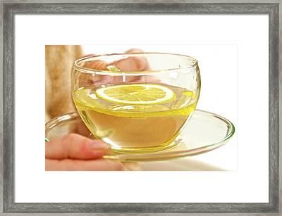 Lemon Tea Framed Print by Lea Paterson