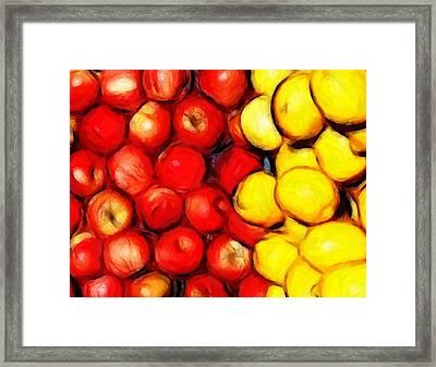 Lemons And Apples Framed Print by Stefan Kuhn