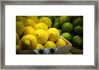 Lemons And Limes Framed Print by Julie Palencia