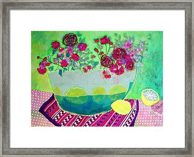 Lemons Framed Print by Diane Fine