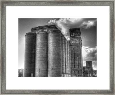 Lemp Brewery Black And White Framed Print by Jane Linders