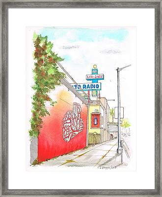 Len Jacs Auto Radio Store In Hollywood - California Framed Print by Carlos G Groppa