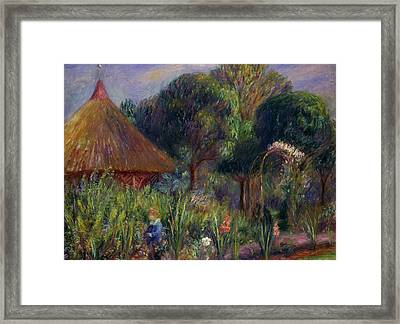 Lenna By A Summer House Framed Print by William James Glackens