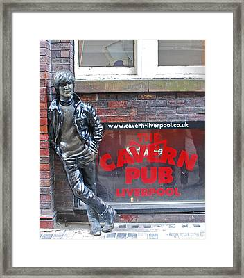 Lennon At The Cavern Framed Print by Georgia Fowler