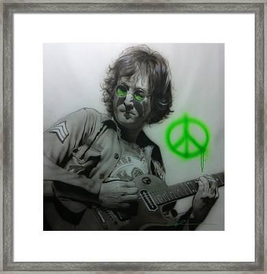 John Lennon - ' Lennon ' Framed Print by Christian Chapman Art