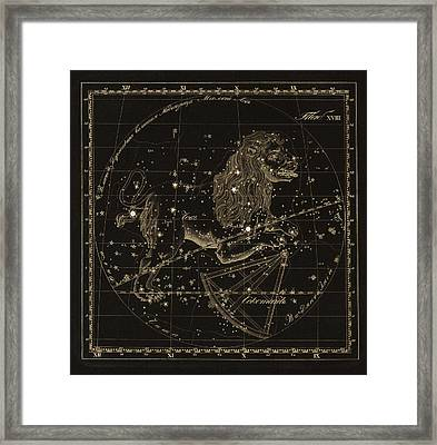 Leo Constellations, 1829 Framed Print by Science Photo Library