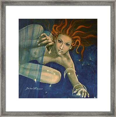 Leo From Zodiac Series Framed Print by Dorina  Costras