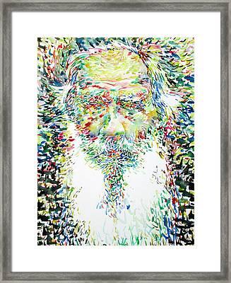 Leo Tolstoy Watercolor Portrait.1 Framed Print by Fabrizio Cassetta