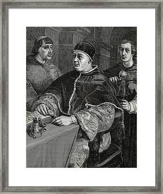 Leo X (1475-1521 Framed Print by Prisma Archivo