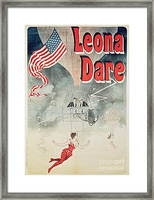 Leona Dare Framed Print by Jules Cheret
