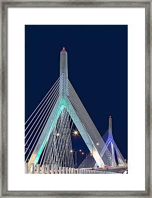 Leonard P. Zakim Bunker Hill Memorial Bridge II Framed Print by Susan Candelario