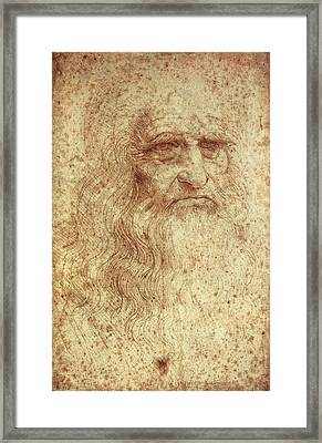 Leonardo Da Vinci 1452-1519 Framed Print by Everett