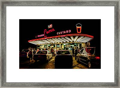 Leon's Frozen Custard Framed Print by Scott Norris