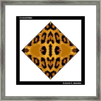 Leopard Skin Framed Print by Roberto Alamino