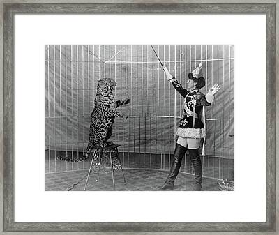 Leopard Trainer, C1906 Framed Print by Granger
