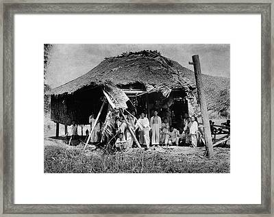 Lepers In The Philippines Framed Print by National Library Of Medicine
