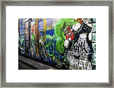 Leprechaun Graffiti Framed Print by John Rizzuto