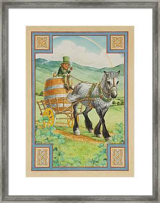 Leprechaun Framed Print by Lynn Bywaters