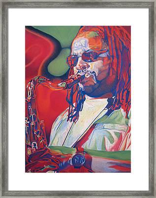 Leroi Moore Colorful Full Band Series Framed Print by Joshua Morton