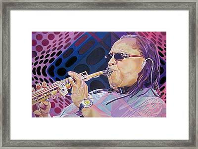 Leroi Moore Framed Print by Joshua Morton