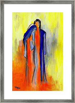 Les Amoureux Framed Print by Mirko Gallery