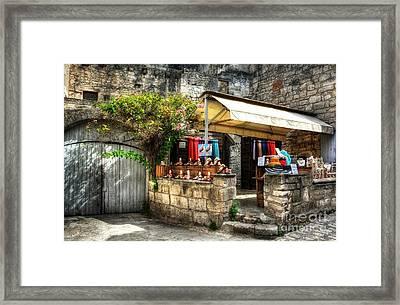 Les Baux De Provence 5 Framed Print by Mel Steinhauer