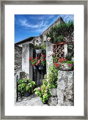 Les Baux De Provence Framed Print by Mel Steinhauer