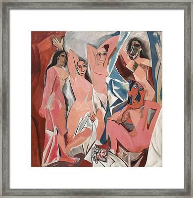 Les Demoiselles D Avignon Framed Print by Pablo Picasso