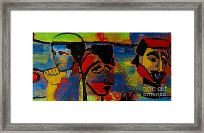 Les Gens A La Lac Two Framed Print by Grace Liberator