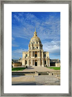 Les Invalides Framed Print by Olivier Le Queinec