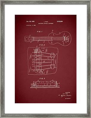 Les Paul Guitar Patent 1962 Framed Print by Mark Rogan